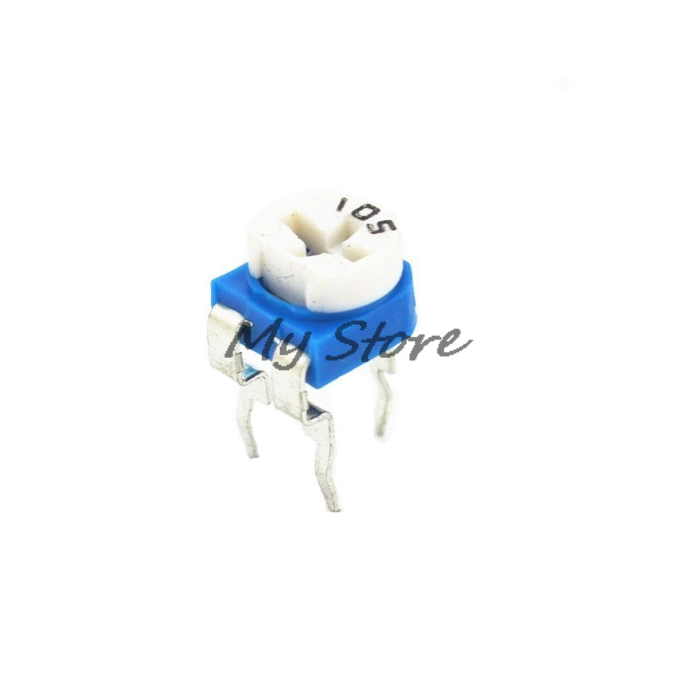 20PCS RM065 100R 1K 2K 3.3K 4.7K 5K 10K 20K 33K 47K 50K 100K 220K 1M Ohm Trimmer Trim Pot Variable Resistor Potentiometer w118 2w triple potentiometer 1k 10k 100k 220k 470k 1m