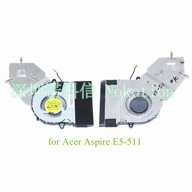 AT15Y001FF0 Heatsink For Acer Aspire E5-511 E5 511 Fan cooling systems 100%test for acer aspire v3 772g notebook pc heatsink fan fit for gtx850 and gtx760m gpu 100% tested