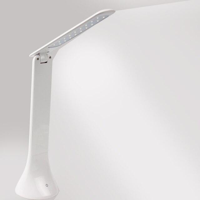LED Настольная Лампа Чтение Свет Платно Настольная Лампа Регулируемый Портативный Затемнения Мода USB Зарядка Сенсорный Свет Книга