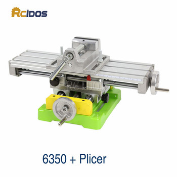 BG-6350 Mini Compound Bench/woodworking benches,RCIDOS table sliding cross table,drill machine work bench+2.5inch Plicers hlq8 50s 75s airtac sliding table cylinder