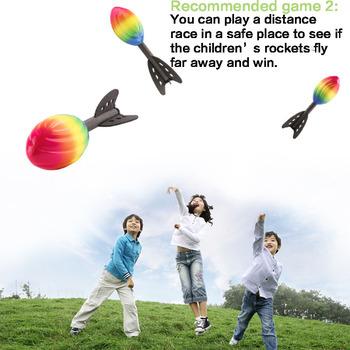 Pianki rakieta Dart amerykański PU piłka nożna w celu poprawy dla dzieci na świeżym powietrzu zdolności sportowe na świeżym powietrzu zabawki sportowe prezenty dla dzieci tanie i dobre opinie Handicrafts 5-7 lat 8-11 lat Unisex Cannot break cannot eat cannot burn A072 Rugby