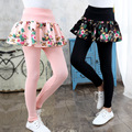 Retail Kids Pants Children's Clothing Girls Casual Solid Thick Velvet Princess Skirt Leggings Next Winter Baby Trousers 3-13Y