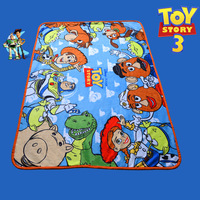 High Quality Baby Boys Toy Story Fleece Blanket/Cartoon Buzz Lightyear Sleep Quilt/Children Comfortable Picnic Blanket,100*140CM