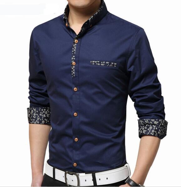 2017 мужская С Длинным Рукавом Марка Рубашка Camisas Бизнес Вскользь Уменьшают Подходящую Рубашку Плюс Размер 5xl