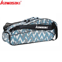 Kawasaki Badminton Bag Large Capacity Racquet Sports Bag For 6 Badminton Rackets With Two Shoulders Basic Series KBB 8642