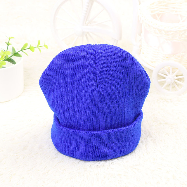 9ad7086214c 2017 New Warm Cotton Winter Crochet Knitted Baby Beanies Girls Boys Hat  Cute Caps with 10 Candy Colors Baby Accessories
