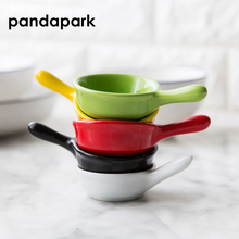 Pandapark твердое пигментированное керамическое Уксусное блюдце, маленькое блюдо для суши с соевым соусом, упаковка из 1 шт. PPM038