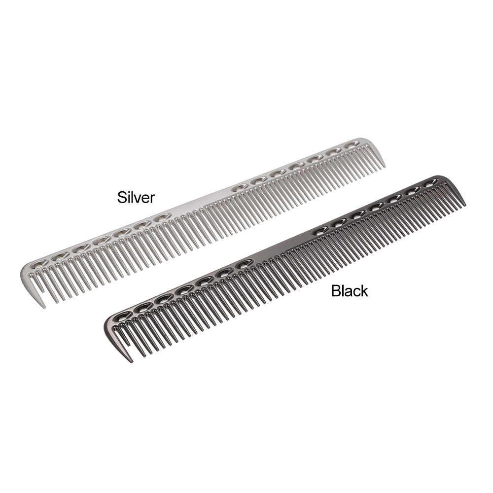 1 шт. 2 в 1 маленький размер из нержавеющей стали гребень для волос Professional Hair Salon парикмахерские расчески для стрижки волос