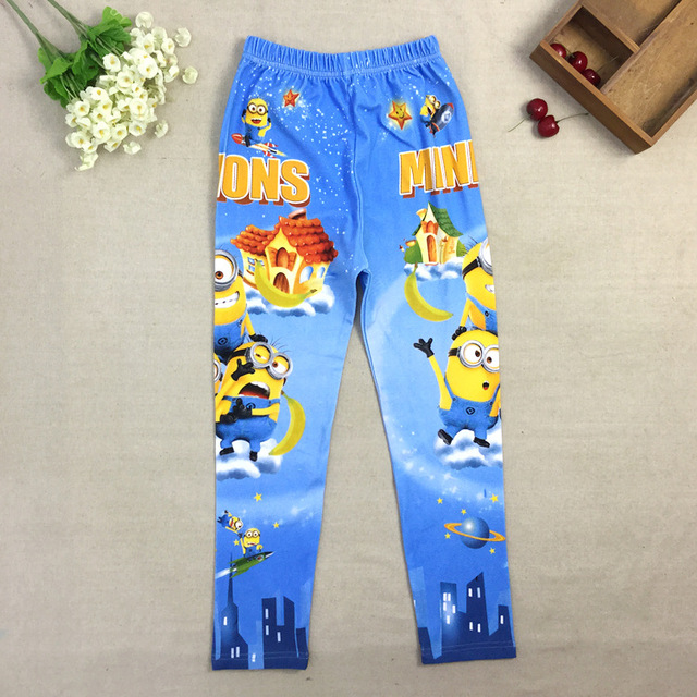 983a2e0df384 Cartoon despicable me 2 minion Leggings Baby Infant Pant girls Minion  Legging Pants Kids Trousers Cartoon