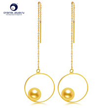 [YS] 6-6.5mm Japanese Akoya Pearl 18k Gold Earrings Wire Latest Design For Women