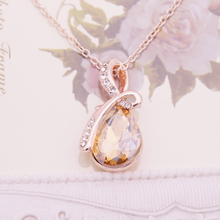 Water Drop Austrian Crystal Necklaces & Pendants Top Quality Collier Femme Teardrop Choker Necklace Jewelry 2016