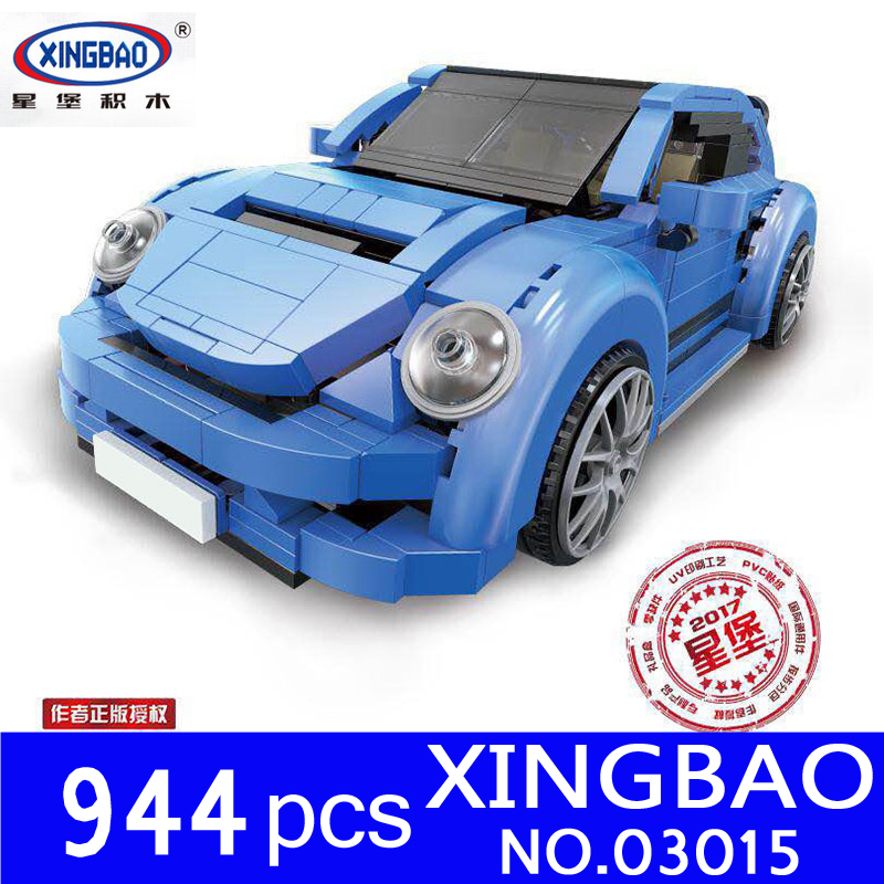 XingBao 03015 944Pcs Genuine Creative MOC Technic Series The Red Phantom Racing Car Set Building Blocks Bricks Toys for Children