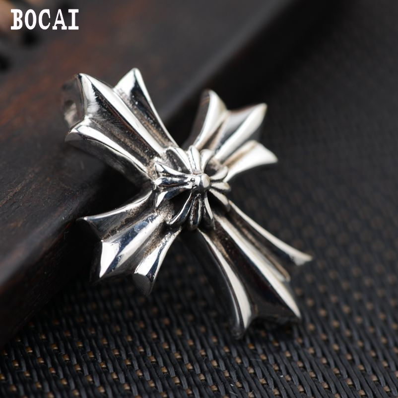 Thai silver wholesale S925 Sterling Silver Pendant antique crafts cross lovers of other personality styles