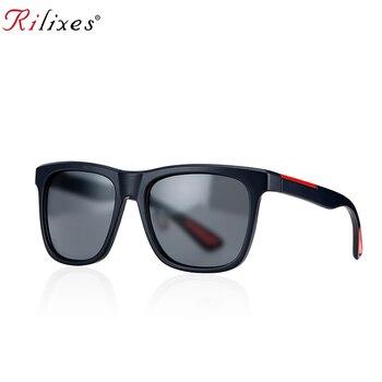 RILIXES 2019 NEW BRAND DESIGN Classic Sunglasses Men Women Driving Square Frame Sun Glasses Male Goggle UV400 Gafas De Sol LC7S 1
