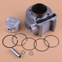 CITALL High Quality 12pcs Motorcycle Cylinder Piston E ring Gasket Kit 61mm fit for GY6 125CC 150CC Scooter ATV Accessories