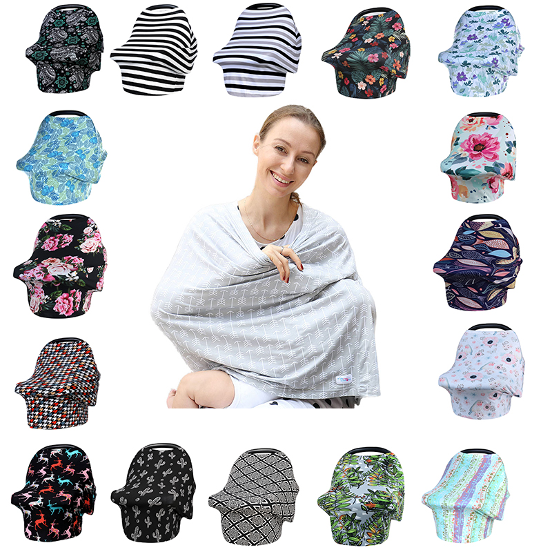 Nursing Breastfeeding Cover Scarf Baby Car Seat Canopy Carseat Shopping Cart