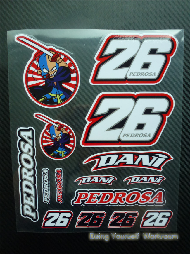 Dani Pedrosa Number 26 Race Number 2015 Large
