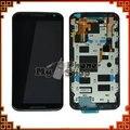 Для Motorola для Moto X2 X + 1 XT1092 XT1095 XT1097 LCD экран с Сенсорной Дигитайзер с Рамкой Ассамблеи Черный белый Бесплатный доставка