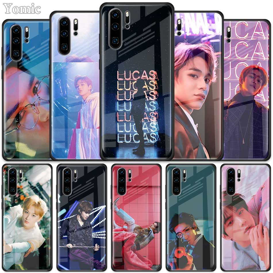NCT 127 <font><b>Kpop</b></font> Boy group Tempered Glass <font><b>Case</b></font> for Huawei P30 Pro P10 P20 P30 Lite Mate 10 20 Pro Honor 20 Pro 8X <font><b>Cover</b></font> Shell image