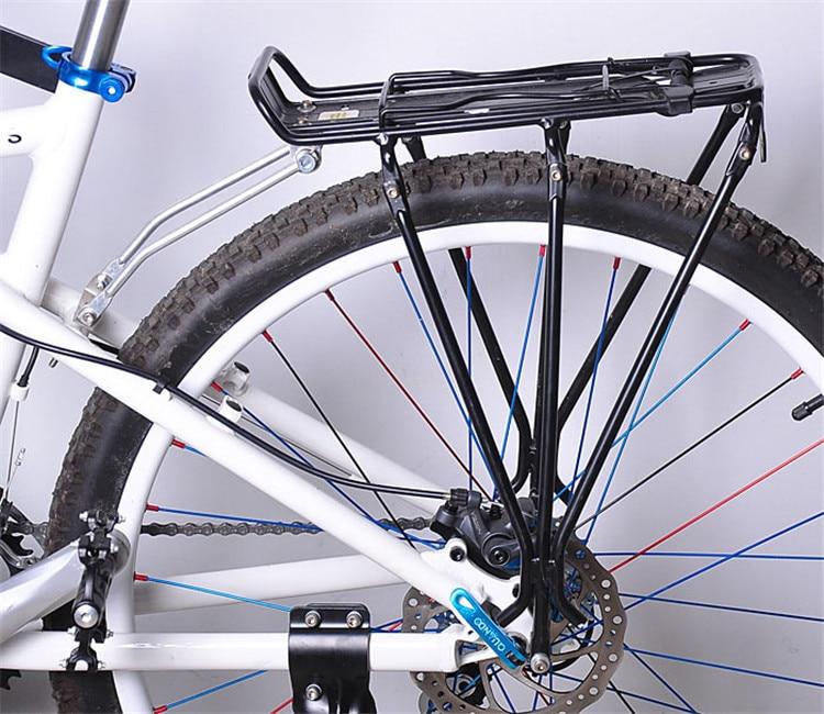 1x Aluminum Alloy MTB Bike Bicycle Rack Carrier 25kg Loading Rear Luggage Cycling Shelf Bracket for V-brake Bike Free Shipping