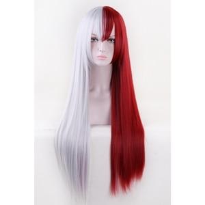 Image 4 - Anime Boku no Hero Academia Todoroki Shoto Cosplay Costume Wig My Hero Academia Men Women Synthetic Hair Wigs + Wig Cap