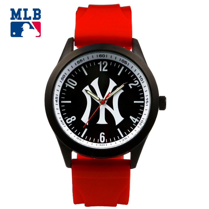 цена на MLB NY series fashion sport lover' watch big face waterproof wristwatch silicone band  quartz  for men and women watches SD011