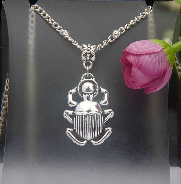 Hot 10pcslot ancient silver scarab beetle charm pendant necklace hot 10pcslot ancient silver scarab beetle charm pendant necklace diy accessories fashion woman jewelry aloadofball Gallery