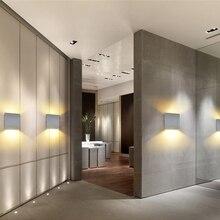 DONWEI 12W LED Aluminium Wall Light wystrój wnętrz prosty na ścianę kinkiet LED kinkiety sypialnia schody lampa do korytarza AC110V/220 V