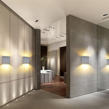 DONWEI applique murale en Aluminium LED, éclairage décoratif pour lintérieur, éclairage simpliste, pour chambre à coucher, escaliers, couloir, 12W, ac 110/mur LED V