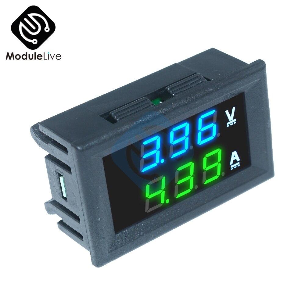 0.56inch Mini Digital Voltmeter Ammeter DC 100V 10A Panel Amp Voltage Current Meter Tester 0.56