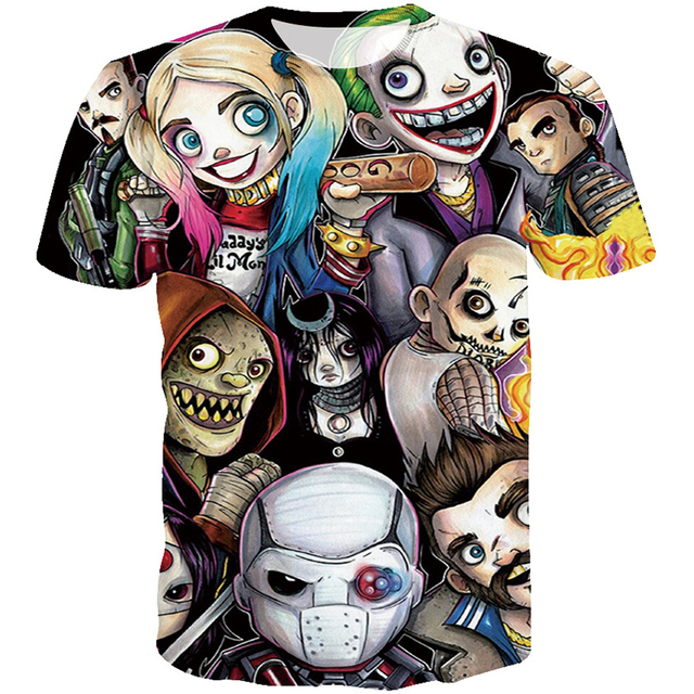 Hip Hop Fashion Men Suicide Squad Joker T Shirt Robt Characters Style Printed Men 3d Tshirt Funny Men Summer T Shirt Wholesales by Mr.1991 Inc&Miss.Go