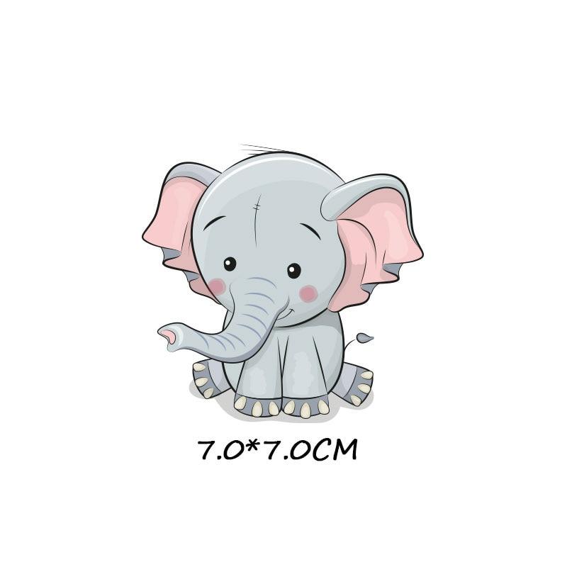 Милые маленькие животные Единорог Сова собака кошка патч для одежды стикер для детей мальчик девочка DIY патчи Футболка теплопередача Винил - Цвет: zt1077