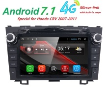 2din HD Quad Core 4 A9 1.6GHz 1024X600 Android 7.1 Car DVD Player Radio For Honda CRV 2006-2011 3G WIFI GPS Navigation USB VIDEO