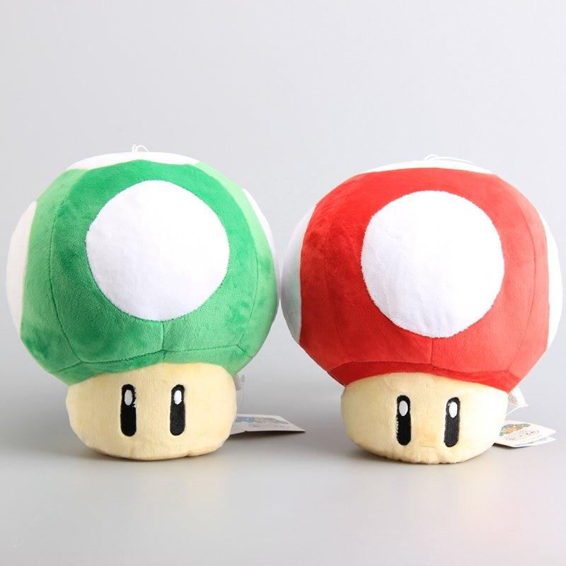 Mario Bros Game Toys Mushrooms Plush Toys Green Red Stuffed Dolls