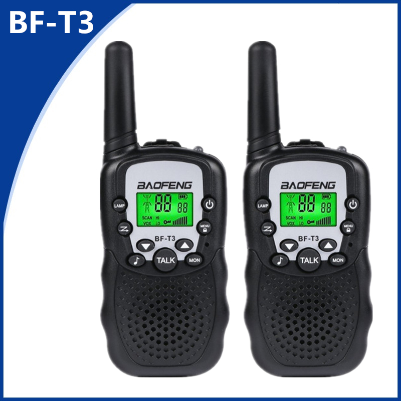 2pcs Mini Baofeng BF-T3 Walkie Talkie Portable 8/22 Channel Children Two-Way Radio 10 Call Tones HF Transceiver Communicator T3
