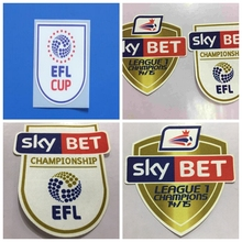New EFL CUP English Football League Cup Champions 14/15 Print patches badges,Soccer Hot stamping Patch Badges(China)