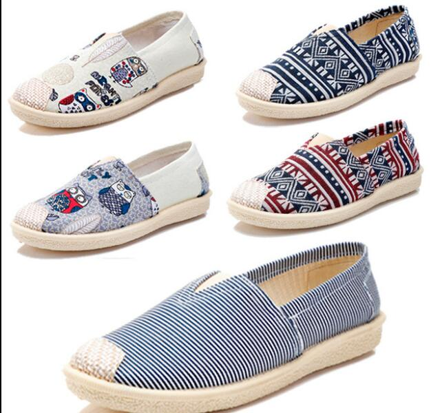 Loafers Espadrilles Flats-Shoes Spring Girl Women's Fashion New Canvas Lazy's