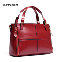 Women Bag New 2016 Genuine Leather Fashion Handbag Luxury Shoulder Bag For Women Top Quality Top