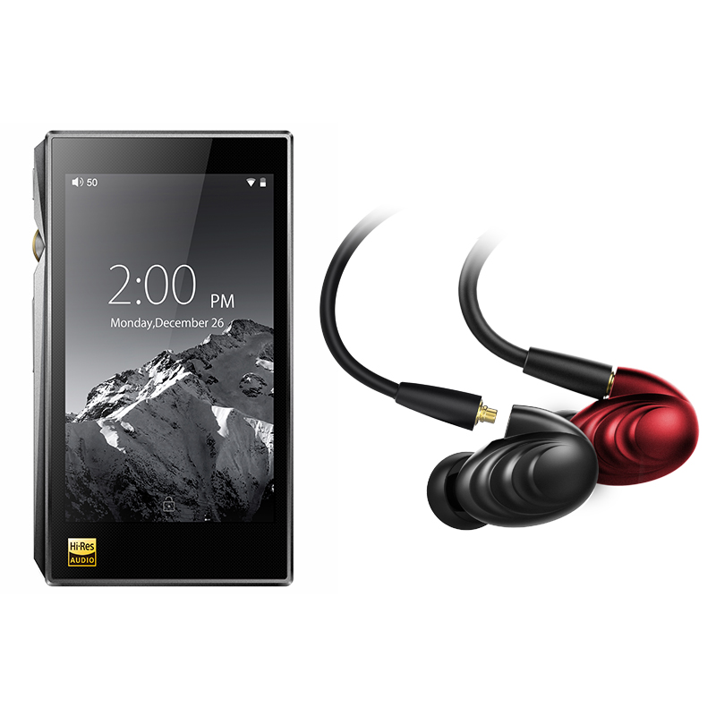 Bundle Vendita di FiiO Lettore Musicale Portatile Hi-Res X5 MKIII Con FiiO Triple Driver Hybrid In-Ear Headphone F9