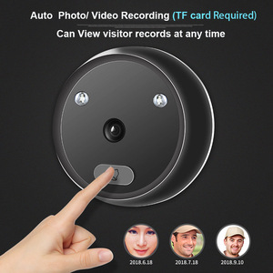Image 2 - Video eye Peephole Doorbell Camera Auto Photo Video Record Electronic Ring Night View Digital Door Viewer Home Security
