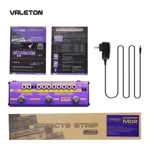 Image 2 - Valeton multi efeitos guitarra pedal dapper mdr de atraso reverb chorus phaser vibrato tremolo flanger analógico digital fita atraso
