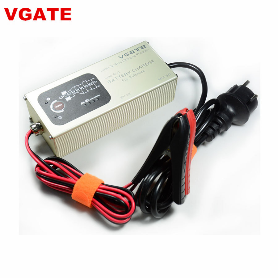 Vgate MXS 5.0 Smart Lead Acid Battery Charger Fully Automatic 12V 5A with Temperature Compensation Car MXS 5.0 Smart Charger 220v to dc 24v battery charger for lead acid battery