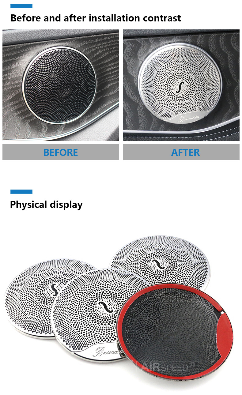 Airspeed for Mercedes Benz W205 W213 GlC AMG Accessories for Mercedes GLC Benz W205 W213 Interior Trim Door Audio Speaker Cover (4)