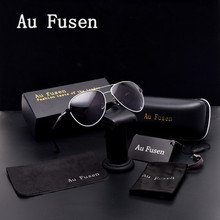 AuFusen Brand designer Polarized Sunglasses classic Luxury vintage alloy frame women Leisure Driving Gradient Goggle Eyewear