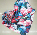 2015 new 2 ply women's Rayon Faux silk Scarf wrap shawl Scarves scarf poncho mixed design 10pcs/lot #3332