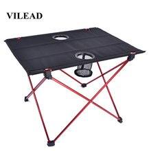 Vilead сверхлегкий алюминиевый стол для пикника и кемпинга 56*42*40
