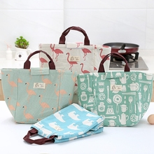 Cooler Lunch Bags for Kid Thermal Insulated Bag Flamingo  Bento Pouches Thermo Food Storage Women Contain