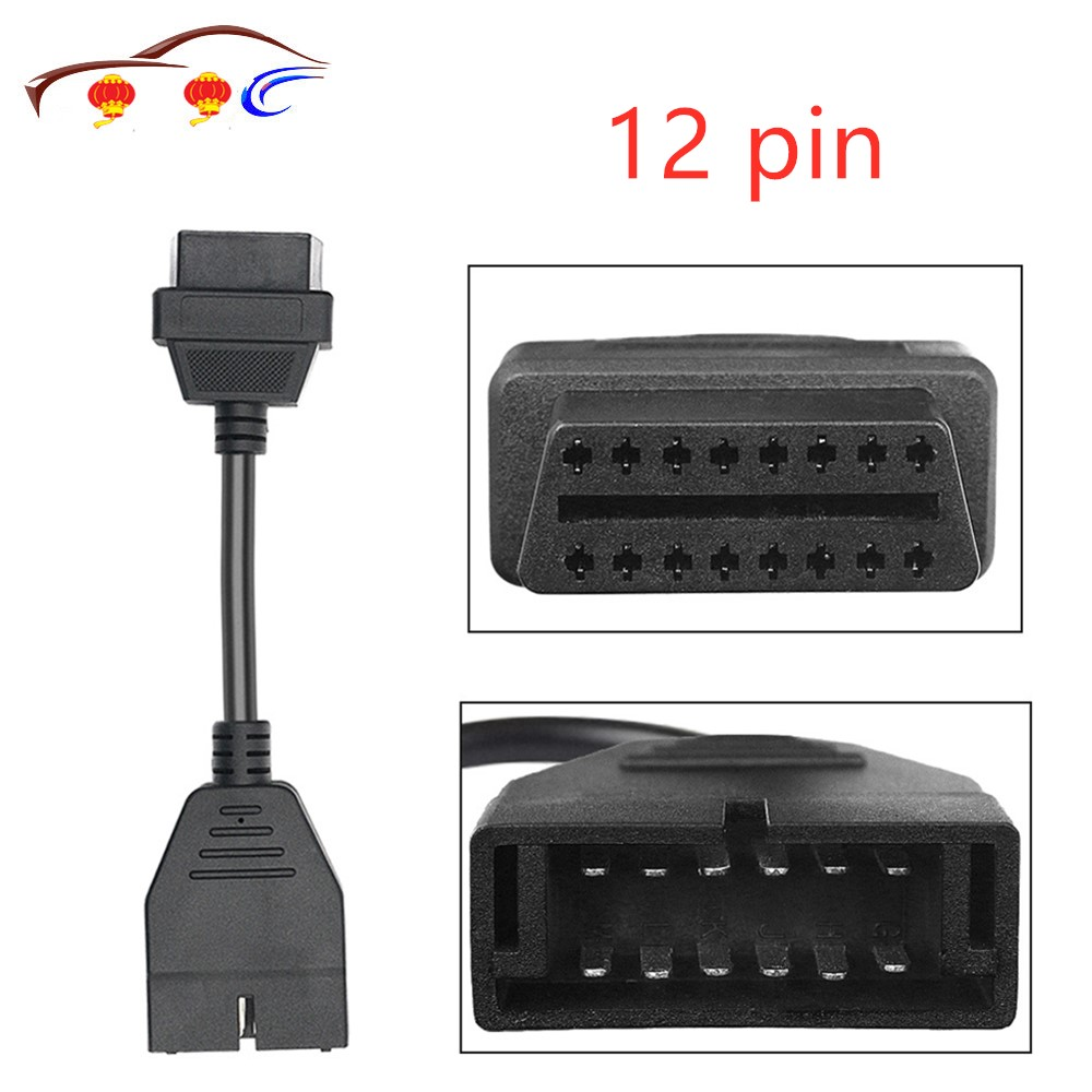 Newest Obd Obd2 Connector For Gm 12 Pin Adapter To 16pin Diagnostic Cable For Gm12pin Free Shipping