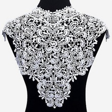 Dress Applique Lace Fabric Blouse Costume Decor Accessories DIY Neckline Collar Sewing Trims White Black недорого