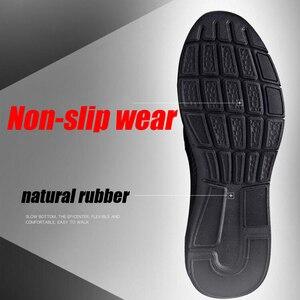 Image 3 - YIGER חדש גברים של ספורט נעלי עור לגברים מקרית להחליק על נעלי אביב פרה עור זכר פנאי נעליים טהור שחור 0264
